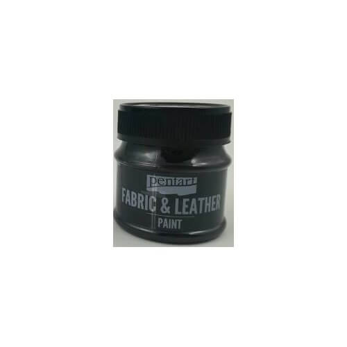 Fabric and leather paint 50 ml, Pentart, Black