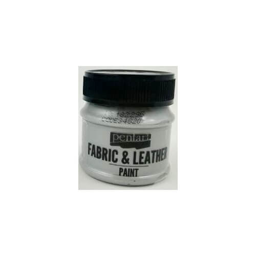 Fabric and leather paint 50 ml, Pentart, Silver