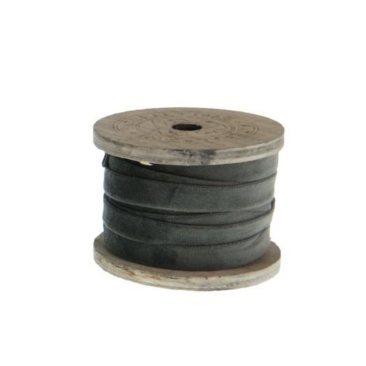 Κορδέλα βελούδινη, 3m, graphite grey