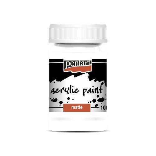 Χρώμα ακρυλικό Pentart 100ml, Titan White