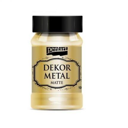 Dekor Metal (μεταλλικό κιμωλίας) Pentart 100 ml, Gold