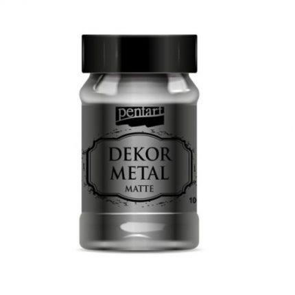 Dekor Metal (μεταλλικό κιμωλίας) Pentart 100 ml, Silver