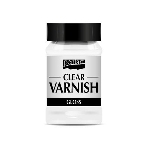 Βερνίκι νεφτιού Gloss διαφανές Clear Varnish,100ml Pentart