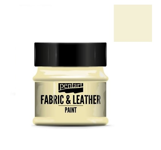 Fabric and leather paint 50 ml, Pentart -Χρώμα για ύφασμα και δέρμα, Ivory