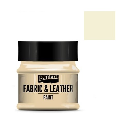 Fabric and leather paint 50 ml, Pentart -Χρώμα για ύφασμα και δέρμα, Eggshell