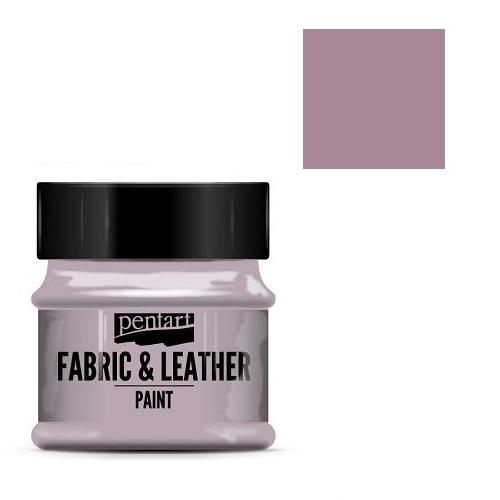 Fabric and leather paint 50 ml, Pentart -Χρώμα για ύφασμα και δέρμα, Vintage Purple