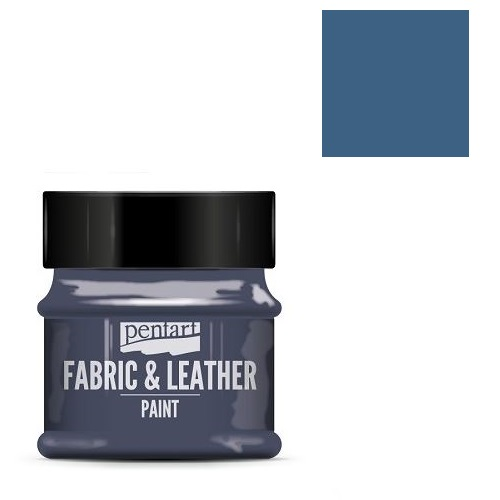 Fabric and leather paint 50 ml, Pentart -Χρώμα για ύφασμα και δέρμα, Denim
