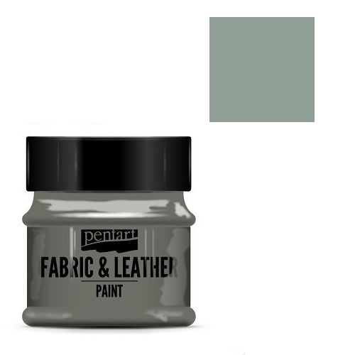Fabric and leather paint 50 ml, Pentart -Χρώμα για ύφασμα και δέρμα, Olive tree green