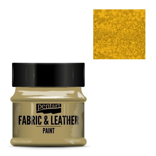 Fabric and leather paint 50 ml, Pentart -Χρώμα για ύφασμα και δέρμα, Glittering Gold