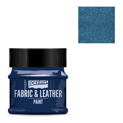 Fabric and leather paint 50 ml, Pentart -Χρώμα για ύφασμα και δέρμα, Glittering Blue