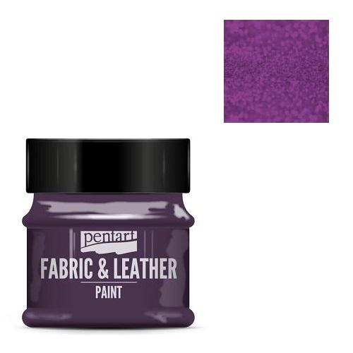 Fabric and leather paint 50 ml, Pentart -Χρώμα για ύφασμα και δέρμα, Glittering Purple