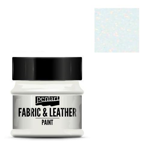 Fabric and leather paint 50 ml, Pentart -Χρώμα για ύφασμα και δέρμα, Glittering Rainbow