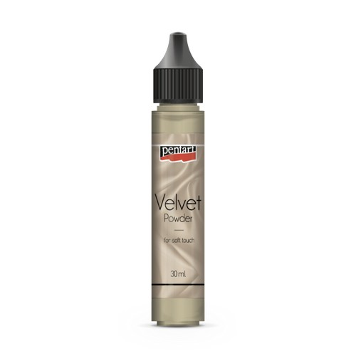 Velvet powder 30 ml Pentart, Beige