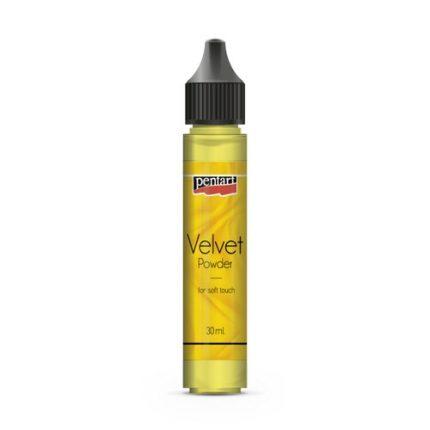 Velvet powder 30 ml Pentart, Citrine