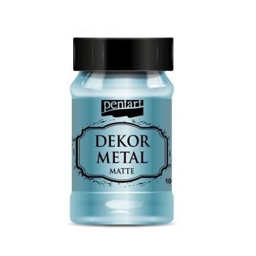 Dekor Metal (μεταλλικό κιμωλίας) Pentart 100 ml, Turquoise