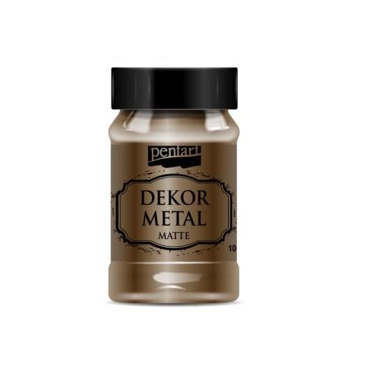 Dekor Metal (μεταλλικό κιμωλίας) Pentart 100 ml, Chocolate