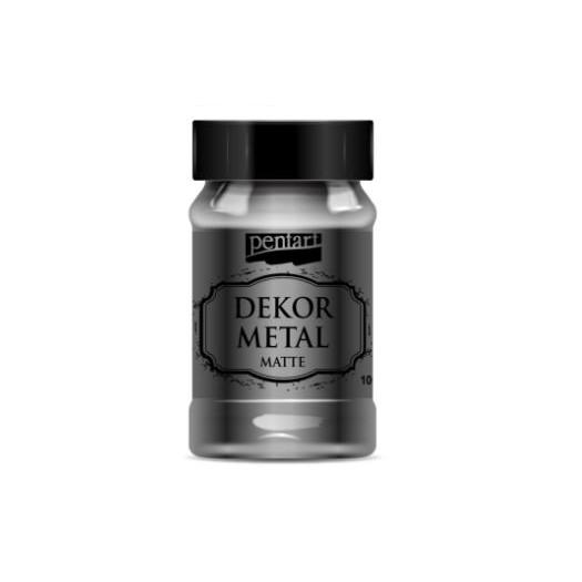 Dekor Metal (μεταλλικό κιμωλίας) Pentart 100 ml, Anthracite
