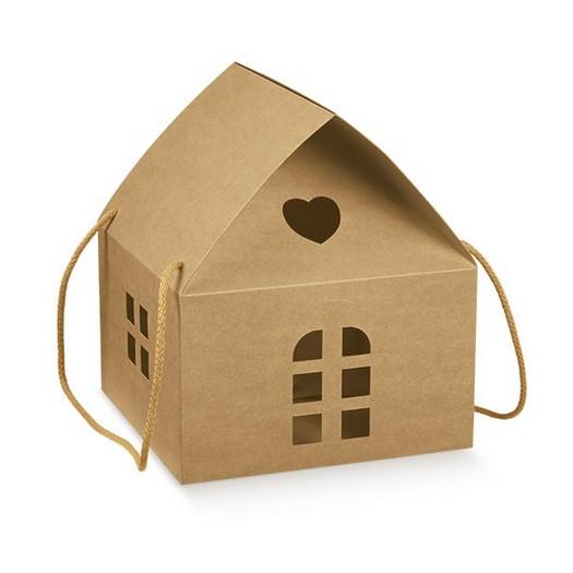 Κουτί  σπιτάκι χάρτινο craft, 24,5x24,5x15cm