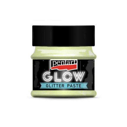 Glow glitter paste (φωσφορίζουσα πάστα) 50 ml, Pentart, Rainbow Blue
