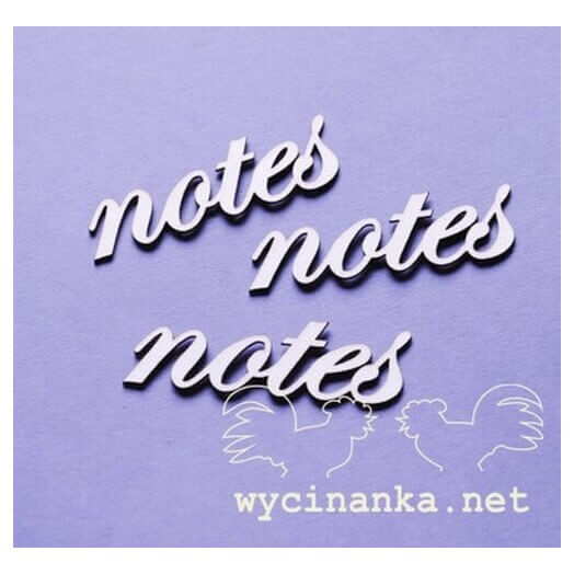 Chipboard «Notes», 2 x 5,5cm, 3τεμ.