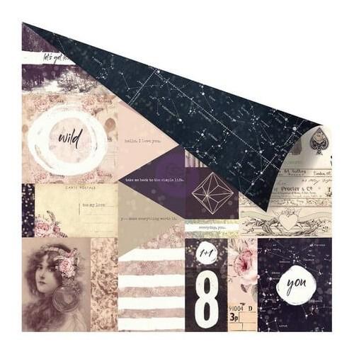 Χαρτί Scrapbooking, Wild & Free Foiled , Prima Marketing, 30x30 cm