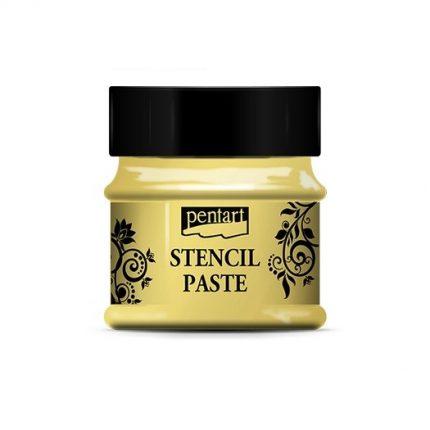 Stencil paste pearl 50 ml - Yellow