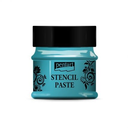 Stencil paste pearl 50 ml - Turquoise