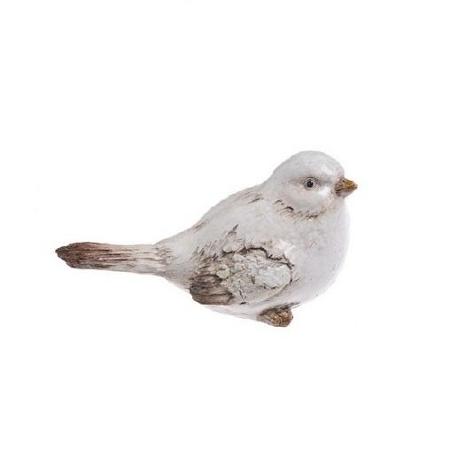 Πουλάκι κεραμικό λευκό, 10,5cm