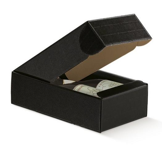 Κουτί χάρτινο για δύο μπουκάλια οντουλέ, black 34x18,5x9cm