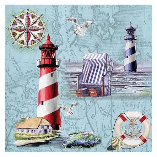 Χαρτοπετσέτα για Decoupage Ti-flair Nautical Chart & Icons , 1τεμ.