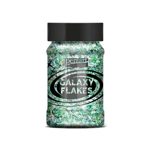 Galaxy Flakes Pentart,15 g Earth green