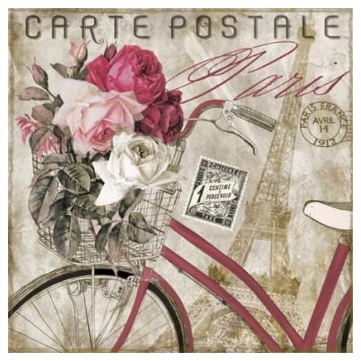 Χαρτοπετσέτα για Decoupage Carte Postale Paris, 1τεμ.