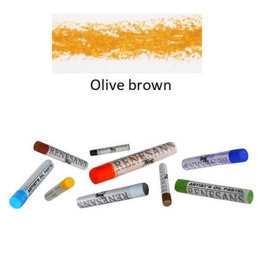 Λαδοπαστέλ oil pastel fine Renesans - Olive Brown