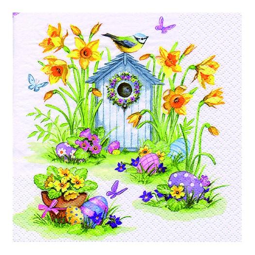 Χαρτοπετσέτα για Decoupage, Birdhouse & Easter Eggs, 1τεμ.