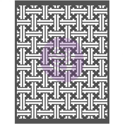 Stencil Prima Re-Design Decor, Weave basket, 56x71cm