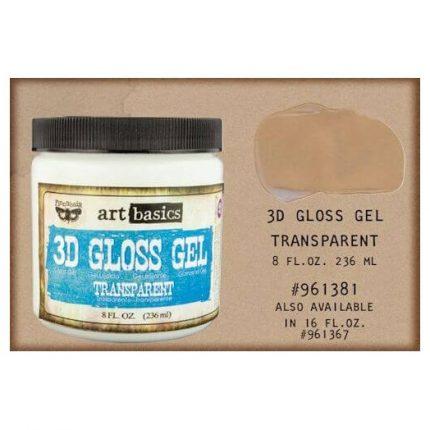 Finnabair Art Basics Soft Gloss Gel 3D Transparent, 250ml