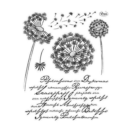 """Σφραγίδα Viva Decor """"Dandelion"""" 14 x 18 cm"""