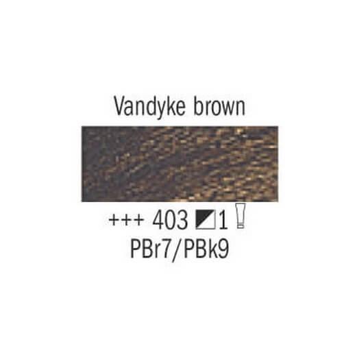 Λάδι Van Gogh Talens 20ml, Vandyke Brown