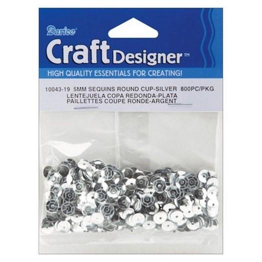 Πούλιες στρογγυλές Silver 5 mm, 800τεμ