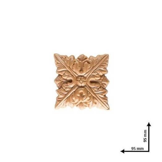 Ξυλόγλυπτo τετράγωνο 9.5x9.5cm