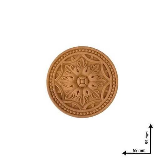 Ξυλόγλυπτo ροζετα 5,5x5,5cm