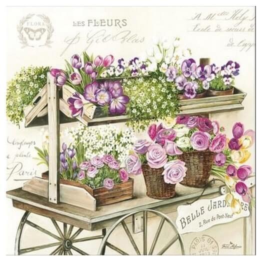 Χαρτοπετσέτα για Decoupage Les Fleurs, 1τεμ