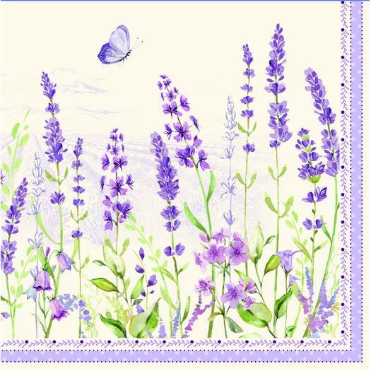 Χαρτοπετσέτα για Decoupage, Lavender field, 1τεμ
