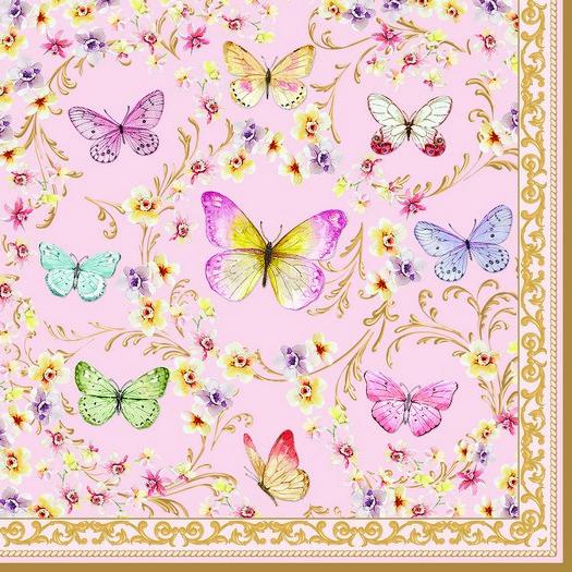 Χαρτοπετσέτα για Decoupage, Majestic butterflies, 1τεμ