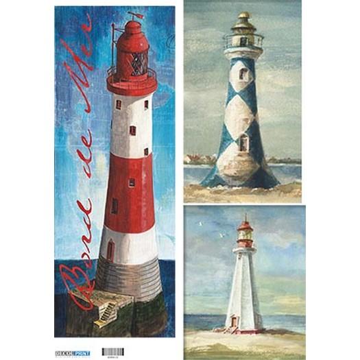 Ριζόχαρτο για λαμπάδες 29,7x42cm, Α3, Lighthouses