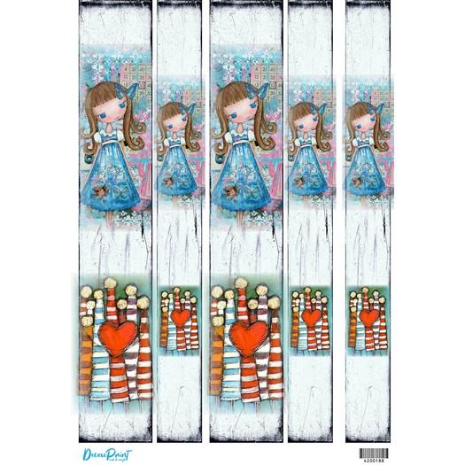 Ριζόχαρτο για λαμπάδες 29,7x42cm, Α3, Blue girl