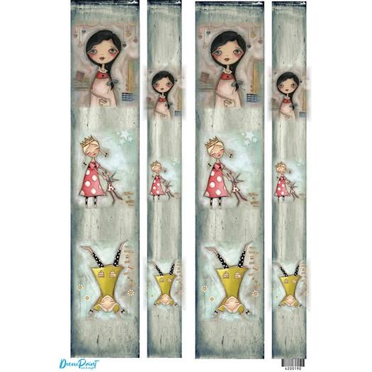 Ριζόχαρτο για λαμπάδες 29,7x42cm, Α3, Happy girls