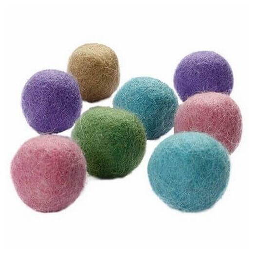 Felt balls 20 mm, pastel harmony, 64τεμ