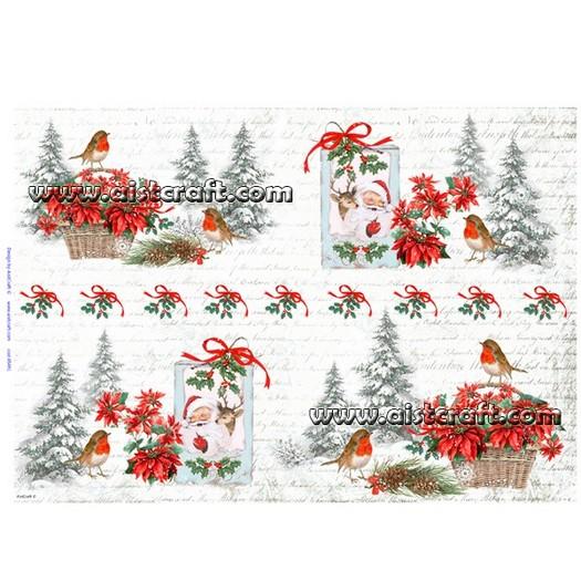 Ριζόχαρτo Aist 32x45cm, Christmas, RP45491