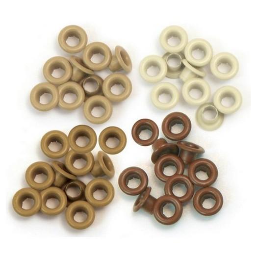 Πριτσίνια Eyelets Standard 60 τεμ We R Memory Keepers - Brown